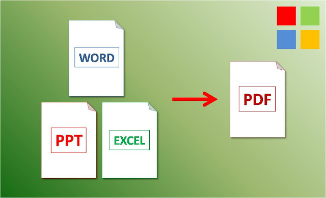 word excel powerpoint to pdf windows