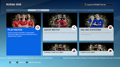 PES 2017 Theme PES 2019 Graphic Menu
