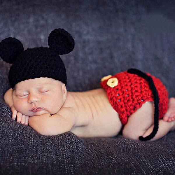 gorro de mickey mouse para bebé