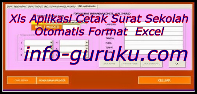 Xls Aplikasi Cetak Surat Sekolah Otomatis Format  Excel