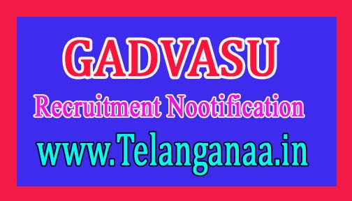 Guru Angad Dev Veterinary and Animal Sciences University GADVASU Recruitment Notification 2016