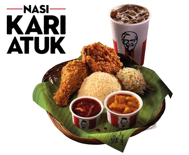 Nasi Kari Atuk KFC Boleh Bawa Berbuka Puasa