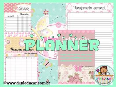 caderno de planejamento, PDF, Planner para professores,