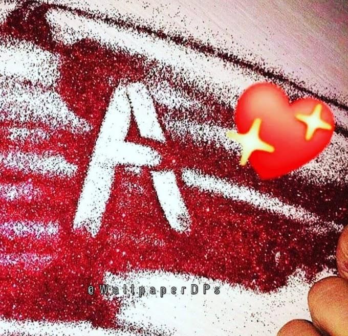 Stylish glitter Letters wallpaper alphabet Dp for WhatsApp