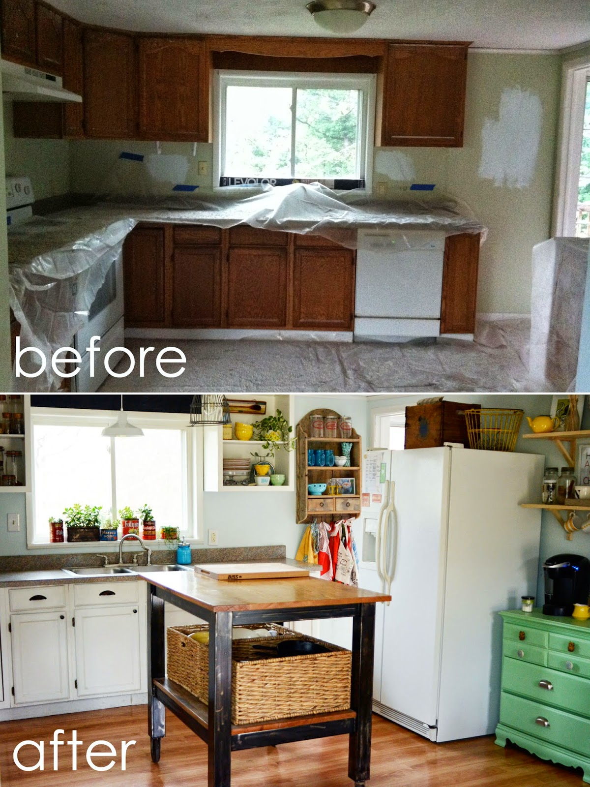 natalie creates our kitchen remodel before & after