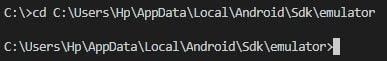 Menjalankan Emulator Menggukan Command Line