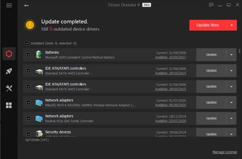 Dell driver update with Drive Booster 8