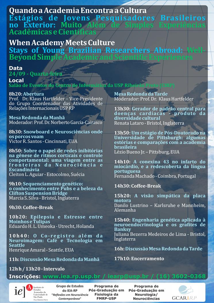 Evento discute projetos científicos desenvolvido por alunos no exterior