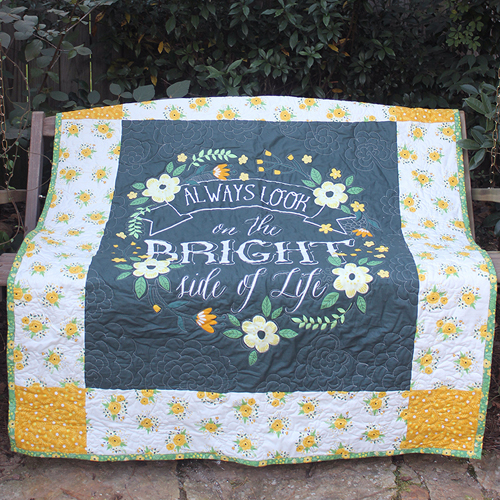 Easy Bright Side Panel Quilt - Tutorial