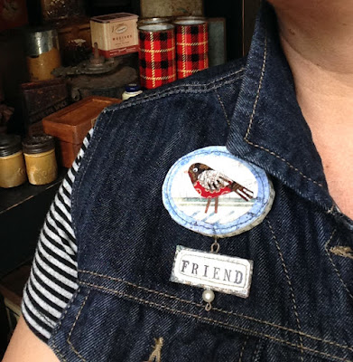 Robin Bird Pin by Paula Joerling Studio