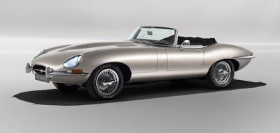 Silver Jaguar E-Type Series I roadster