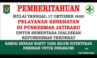 PKM Jatibaru Ditutup Sementara Pasca Adanya Seorang Dokter dan 6 Nakes yang Terpapar Covid19