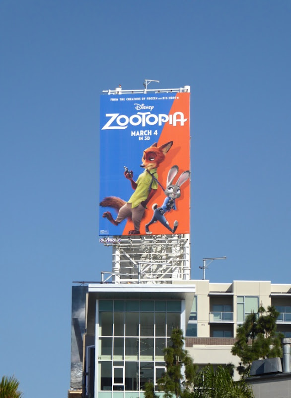 Disney Zootopia film billboard