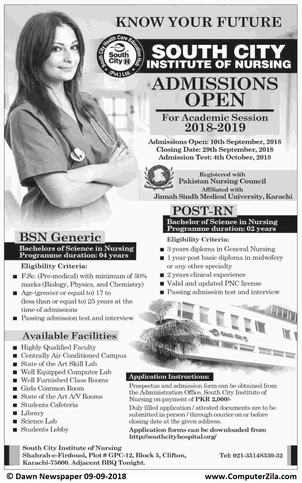 Admissions Open For Fall 2018 At SCHI Karachi Campus