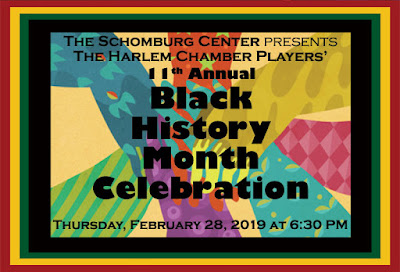 The Harlem Chamber Players  11th Annual Black History Month Celebration Feb. 28, 6:30 PM
