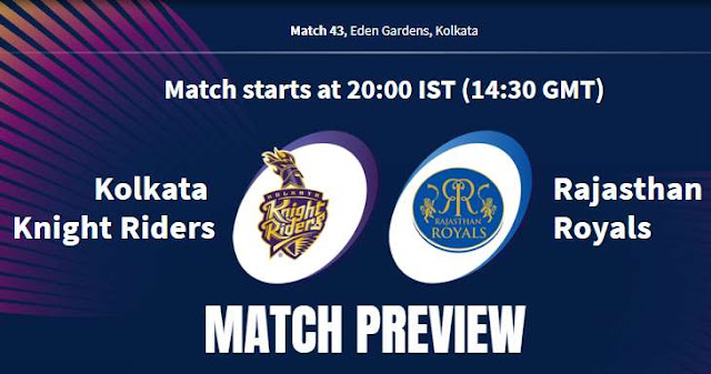 VIVO IPL 2019 Match 43 KKR vs RR Match Preview, Head to Head and Trivia