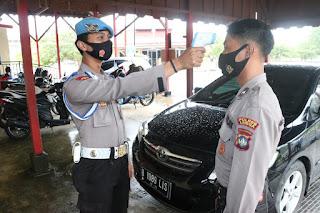 Propam Polres Lingga Akan Tindak Personil Polri Yang Tidak Menggunakan Masker