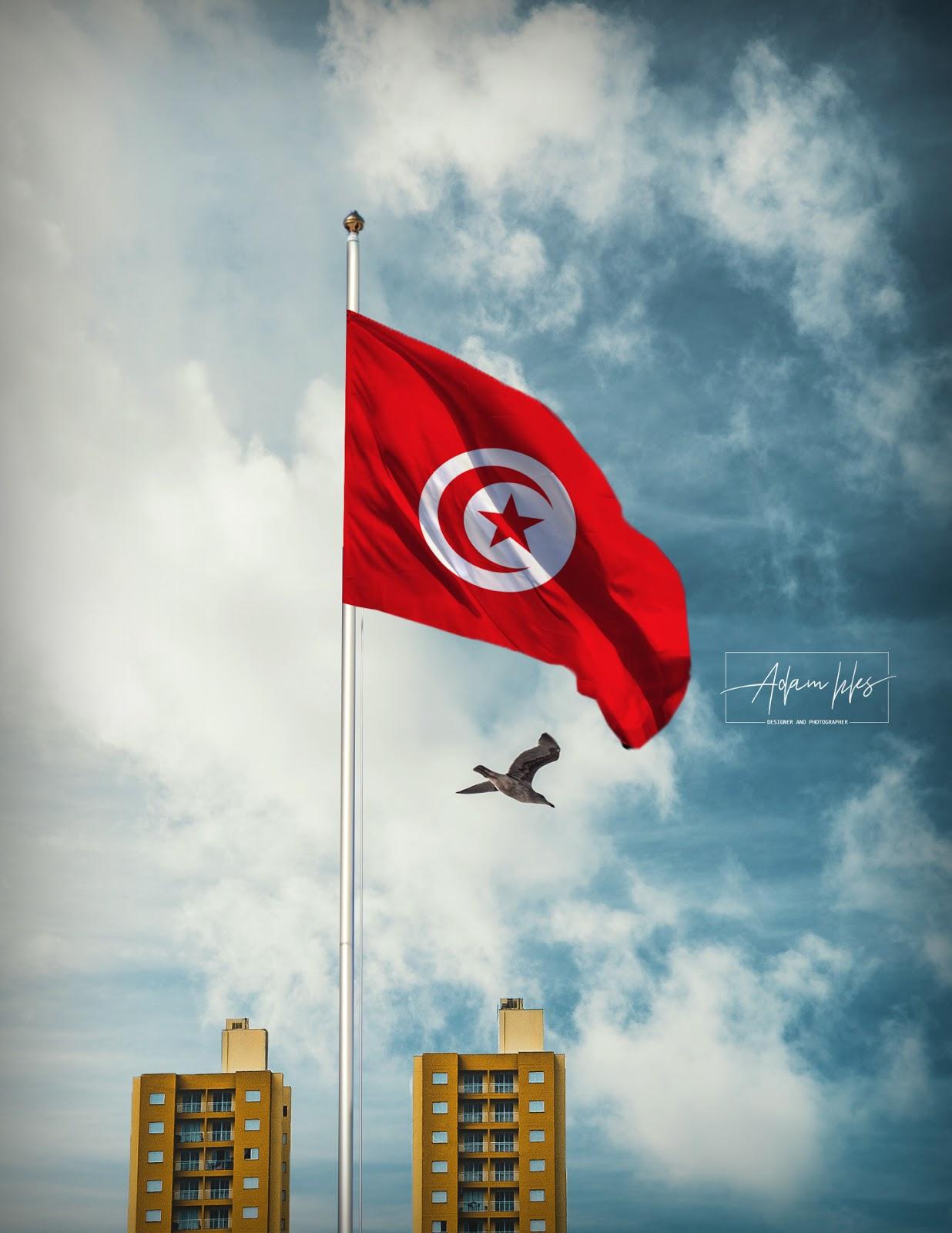 خلفية علم تونس