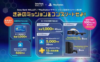 Sony Bank WALLET:PSデザインキャンペーン「きみのミッションをコンプリートせよ!」