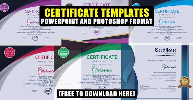 Editable Certificate Templates | PowerPoint and Photoshop Format