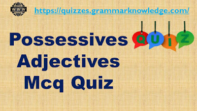 Possessives Adjectives Mcq Quiz With Answers
