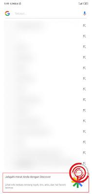 2. Kemudian kalian gulir ke bawah lalu klik ikon Google Discover