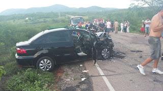 Acidente grave envolvendo três veículos deixa um morto e seis feridos no interior da PB