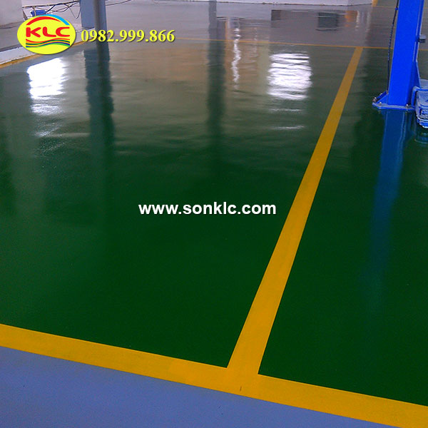 Construction of paint factory floor - cheap epoxy floor paint hips Tphcm
