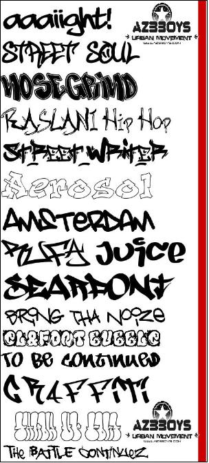 Different Graffiti Fonts Images - Reverse Search
