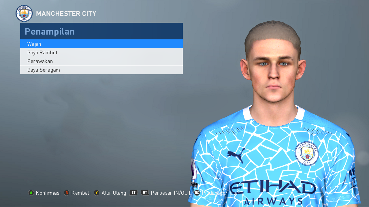 PES 2017 Phil Foden (Manchester City F.C.) face by Ghea Facemaker