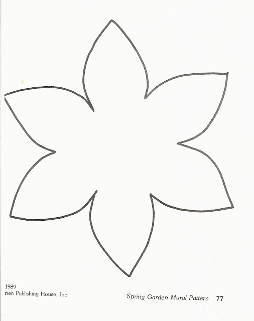 Free printable flower templates crafts for Template of a daffodil