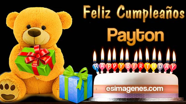 Feliz cumpleaños Payton