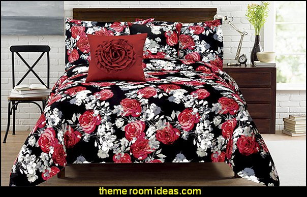 American Beauty Red 5-piece Comforter Set