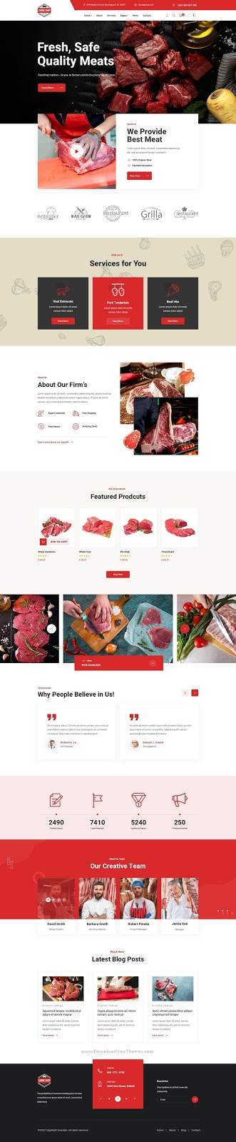 Meat Shop PSD Template