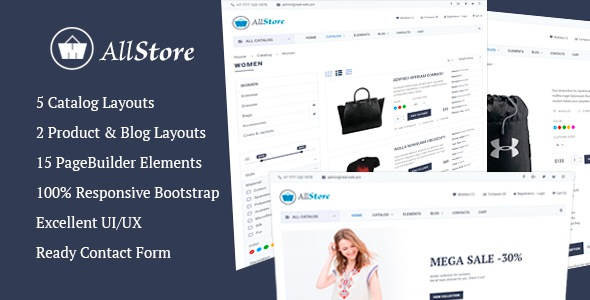 Free premium eCommerce website theme