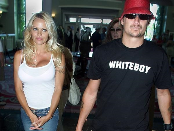 Pamela Anderson & Tommy Lee whiteboy t-shirt.  PYGOD.COM