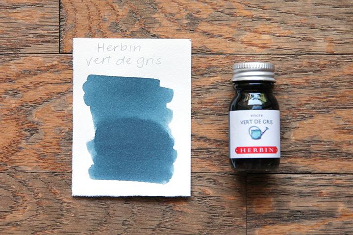review: herbin vert de gris