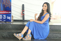 Divya Nandini stunning Beauty in blue Dress at Trendz Exhibition Launch ~  Celebrities Galleries 031.JPG