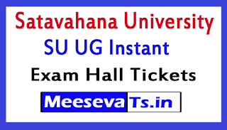 Satavahana University SU UG Instant Exam Hall Tickets