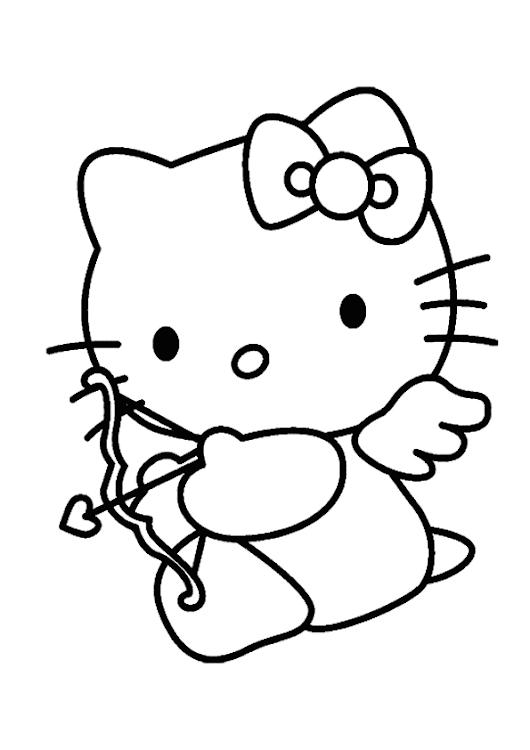 Dibujo de hello kitty cupido para colorear
