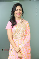 Actress Ritu Varma Pos in Beautiful Pink Anarkali Dress at at Keshava Movie Interview .COM 0127.JPG