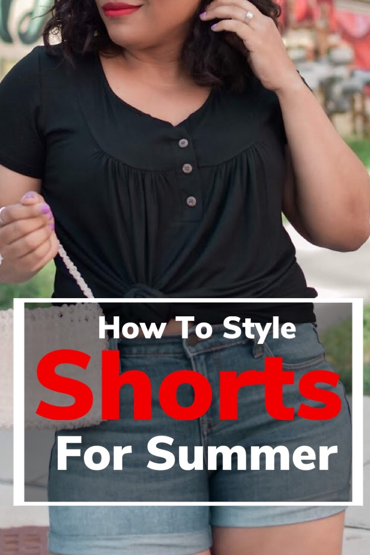 pattys kloset, how to style shorts, how to wear denim shorts, denim shorts for summer, summer outfits with shorts