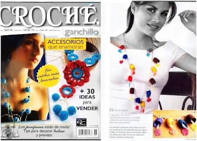 Crochet 30 ideas bisutería.Revista