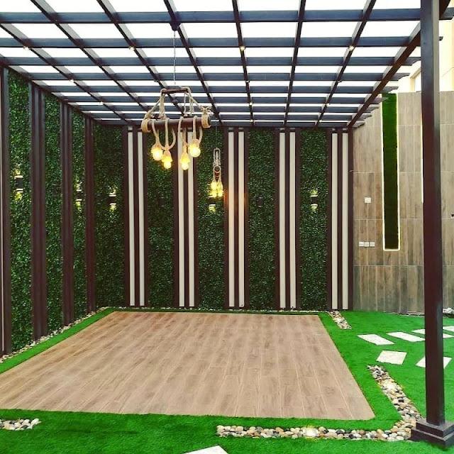 تصميم الحدائق بالعشب الصناعي في القطيف