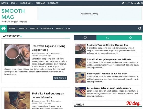 Smooth Mag Responsive Blogger Template