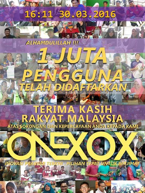 1 juta pelanggan Onexox