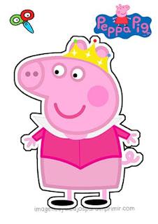 Peppa pig disfrazada de princesa