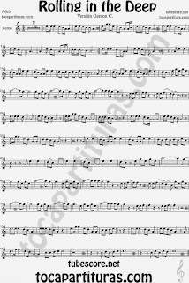 Rolling In The Deep Partitura de Corno y Trompa Sheet Music for Horn