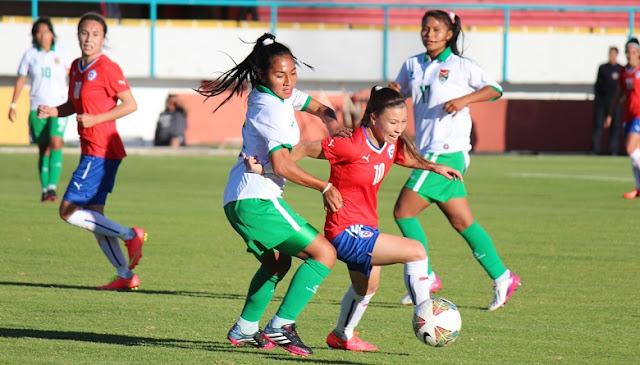 Chile y Bolivia en Copa América Femenina 2014, 16 de septiembre