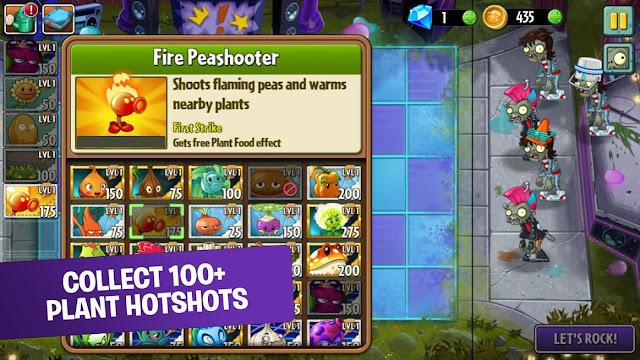 Fitur Plant vs Zombies 2 v8.5.1 Apk Mod (Unlimited Coins/Gems)